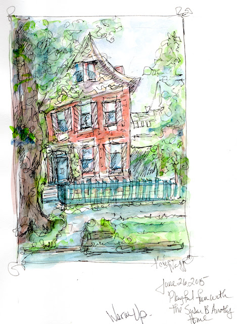 Sunday Sketches; The Susan E. Anthony Home