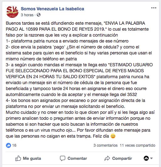 Activación Bono de Reyes Magos Enero 2019 (ACTUALIZADO)