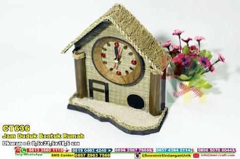 Jam Duduk Bentuk Rumah