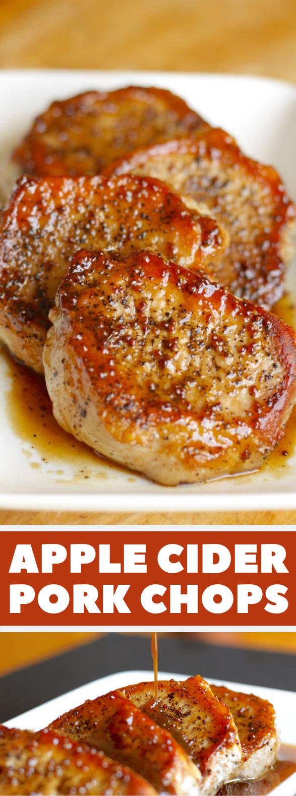 Apple Cider Pork Chops #Dinner #Recipes