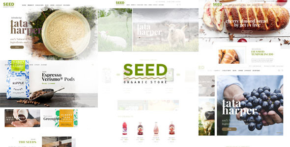 Free Download SEED/Organic Shop Farm Coffee Cosmetic Handmade Wordpress Theme