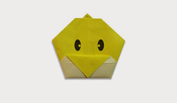 Origami Tutorials - How to make a paper origami baby chick's face