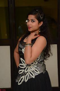 Shrisha Dasari in Sleeveless Short Black Dress At Follow Follow U Audio Launch 020.JPG