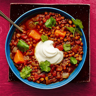 Spiced Lentil and Sweet Potato Stew from Rachel Ray Every Day