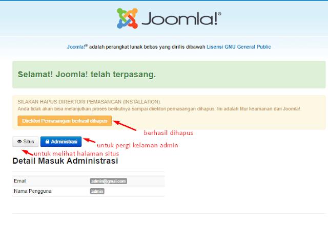 Cara membuat website dengan joomla
