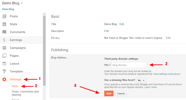 setting up blogger custom domain cname with godaddy