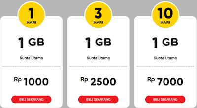 Cara Daftar Dan Harga Paket Yellow Indosat, Kuota 1 Gb Murah Meriah