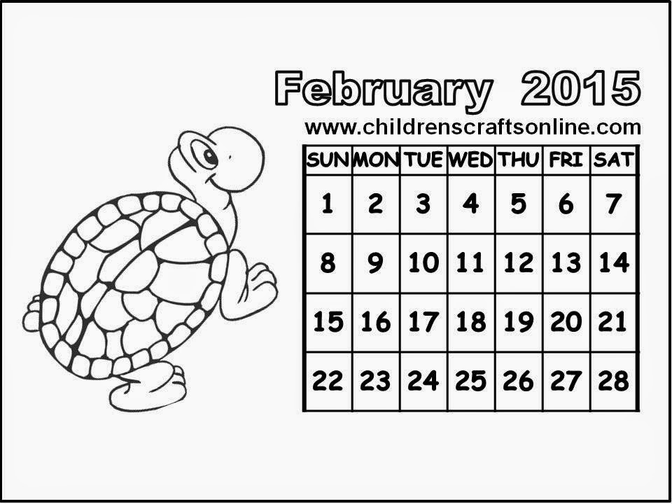 and crafts for children children calendar 2015 february for coloring