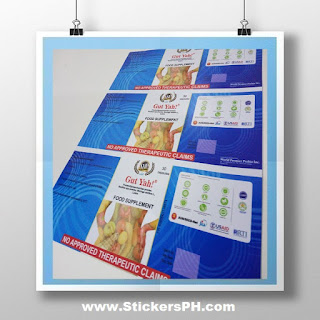 Food Supplement Sticker Labels