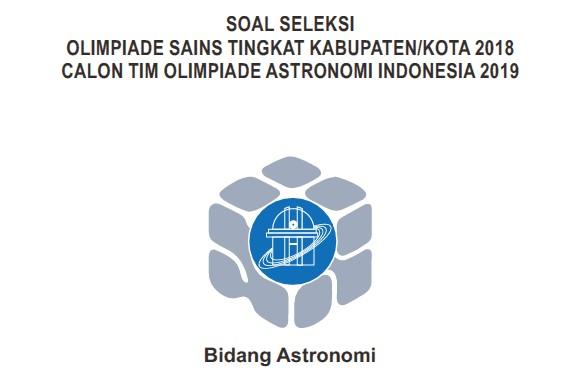 Pembahasan soal osk astronomi 2018