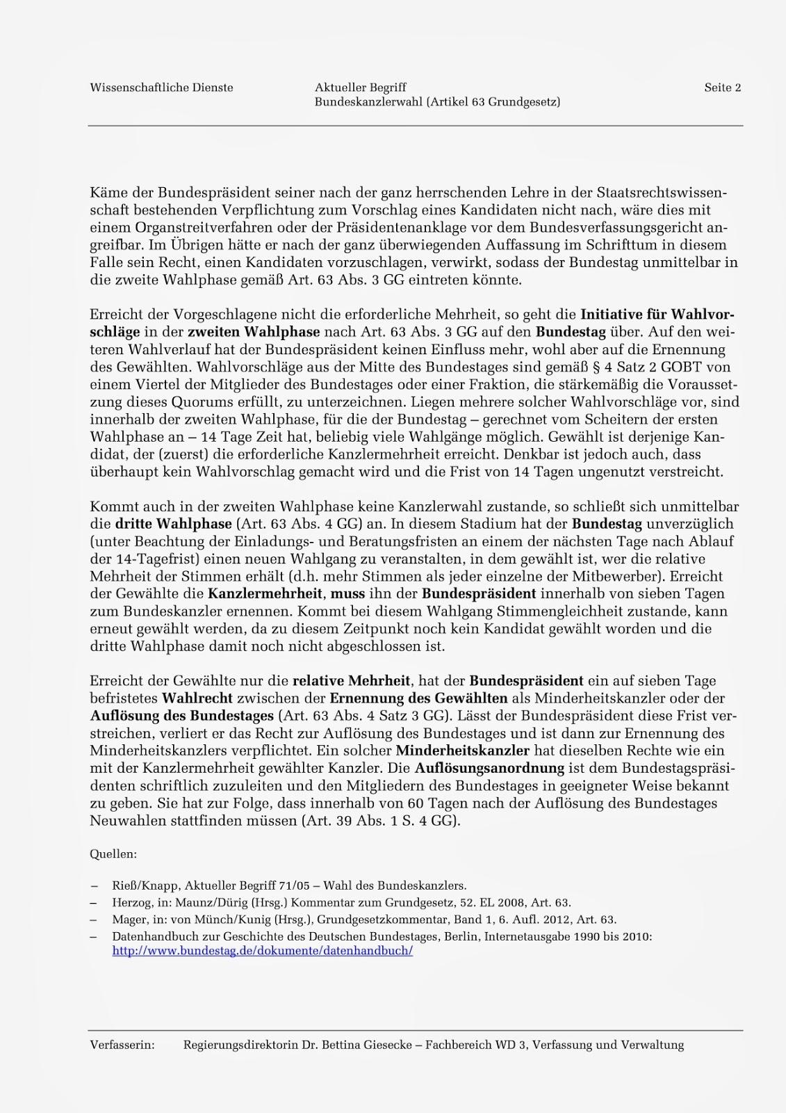 wann sind wahlen in deutschland bundeskanzler