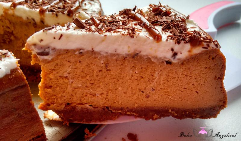Cheesecake horneado de dulce de leche