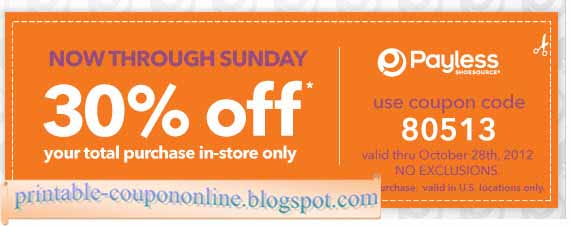 Payless shoes coupons 2019