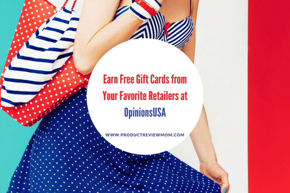 Earn Free Gift Cards from Your Favorite Retailers at OpinionsUSA via www.productreviewmom.com