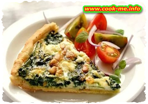 Spinach pie with feta