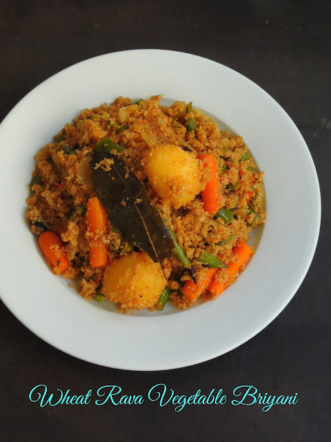 Vegetable broken wheat biriyani