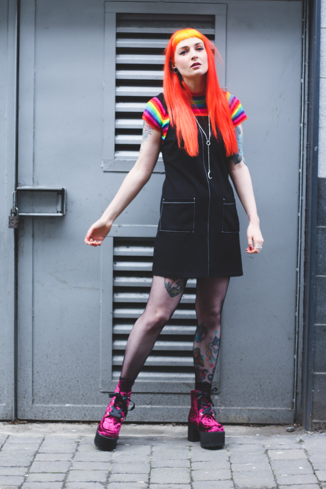Alternative Fashion Blogger Foxxtailz styles T.U.K Boots