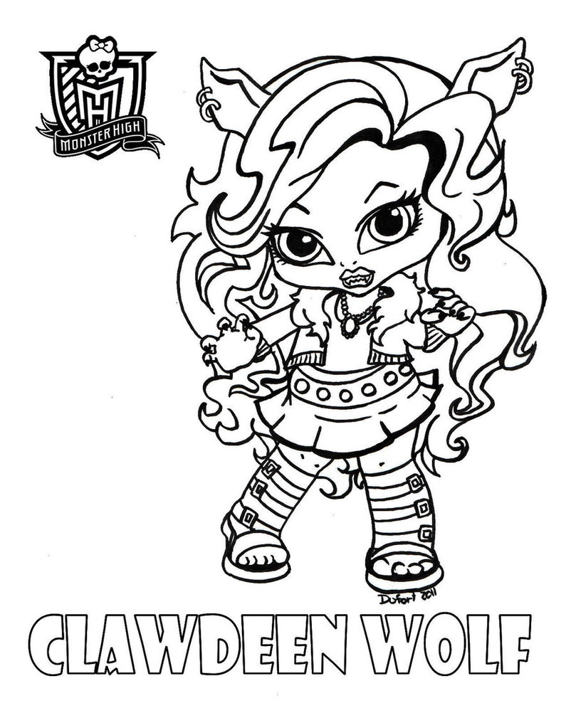 Modern Scary Monster High Coloring free printable angry birds ...