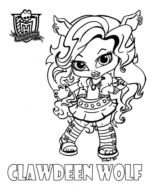 Baby Clawdeen Printable Coloring Sheet From Jadedragonne At Deviant Art