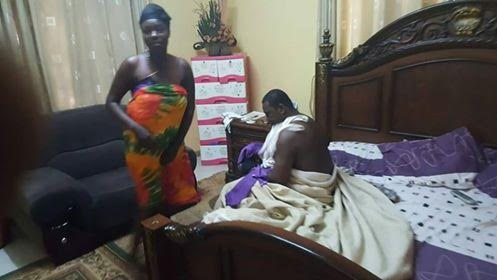 Ghanaian pastor caught pants down with a married woman on her matrimonial bed (photos)