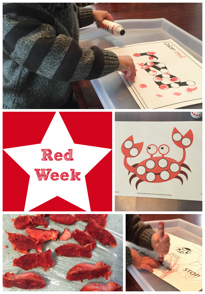 Color Week 1: Red and the Time for Mom Hop!