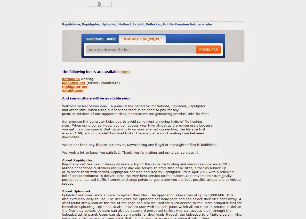 Rapidgator net Premium Link Generator