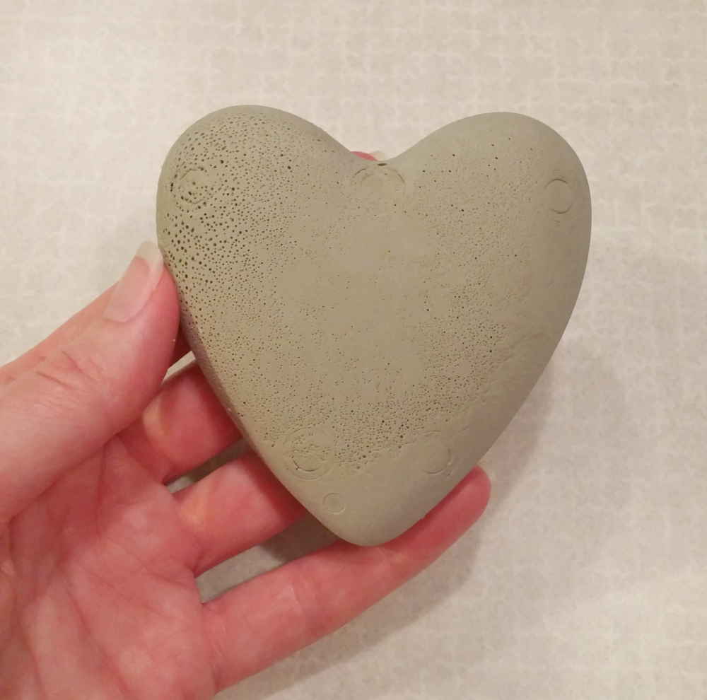 Plaster of Paris heart
