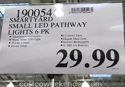 Deal for a 6 pack of SmartYard Solar LED Pathway Lights at Costco