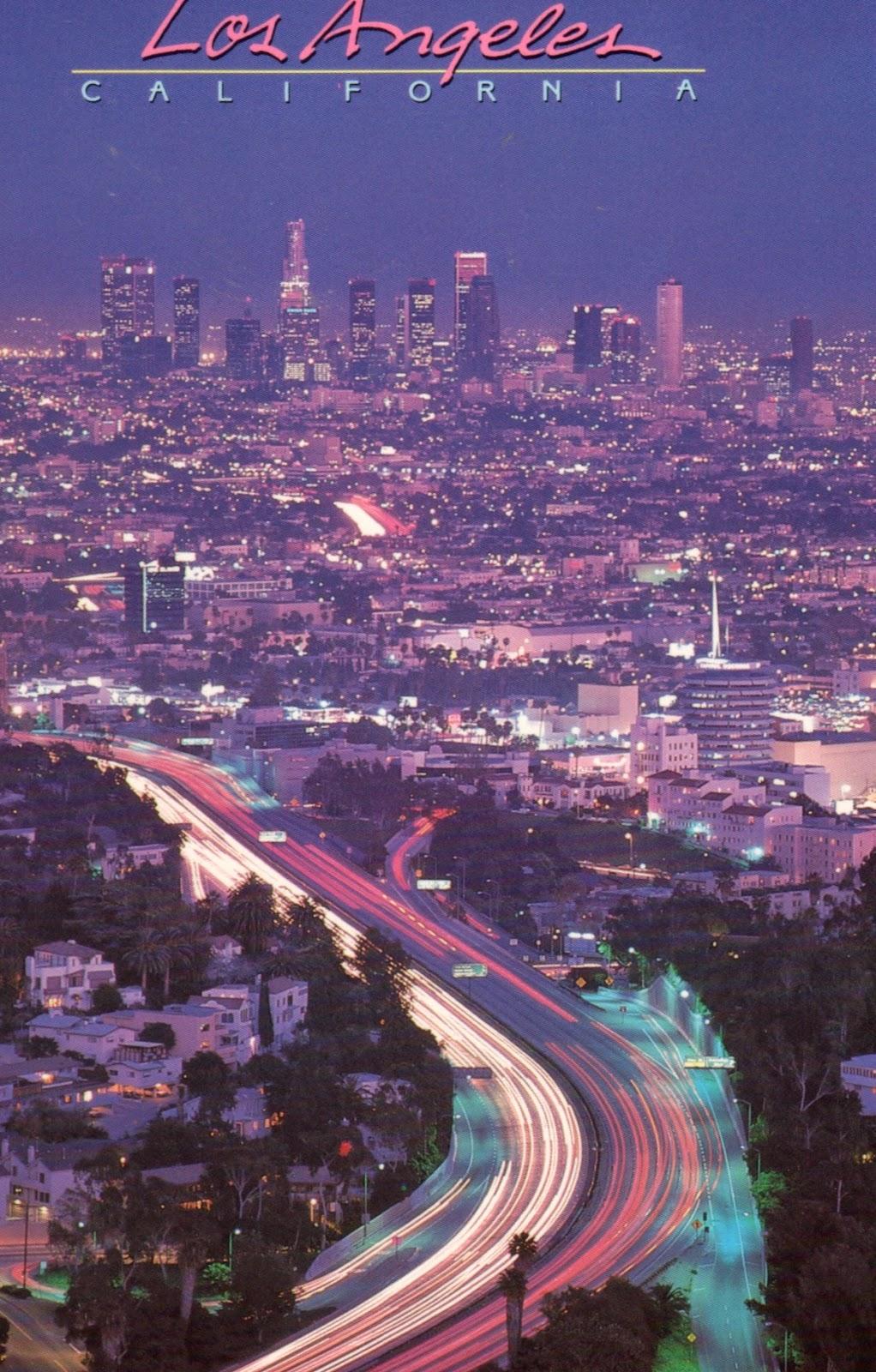 Vista noturna de Los Angeles