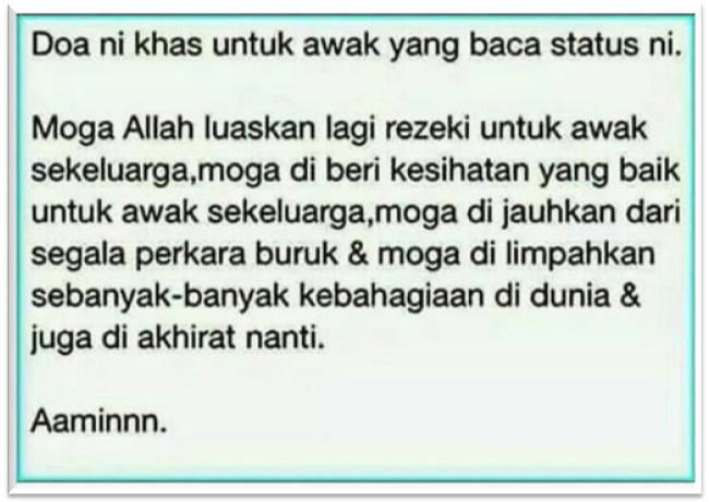 Doa untuk awak