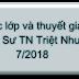 Các lớp và buổi thuyết giảng của Ni Sư Triệt Như 7/2018
