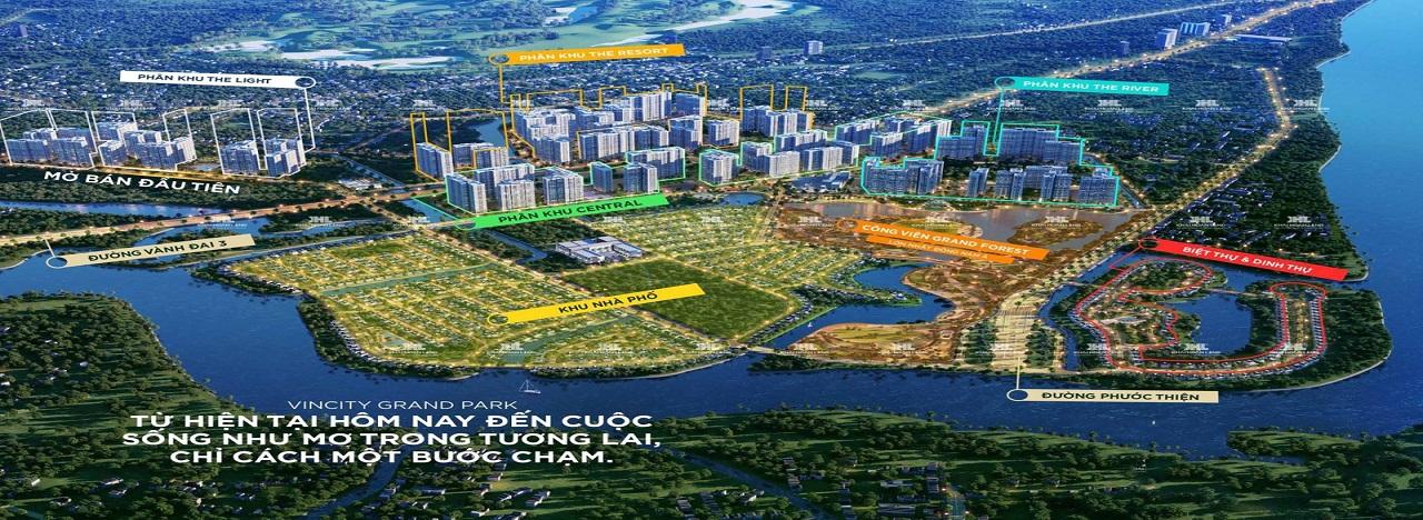 Phối cảnh phân khu dự án Vinhomes Grand Park