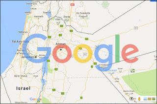 Google Maps tanpa Palestina