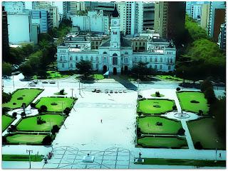 Plaza Mariano Moreno e Palacio Municipal de La Plata, Argentina