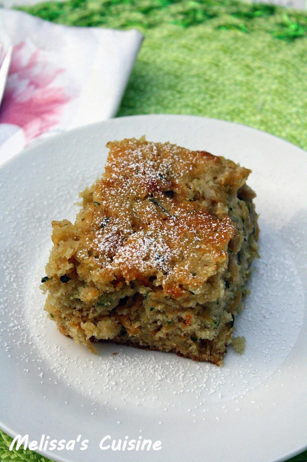 Melissa S Cuisine Zucchini Cake