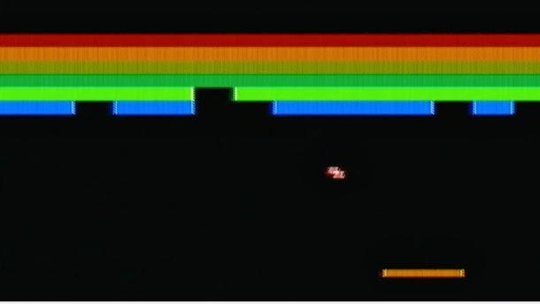 Pantalla del clásico de Atari: BreakOut