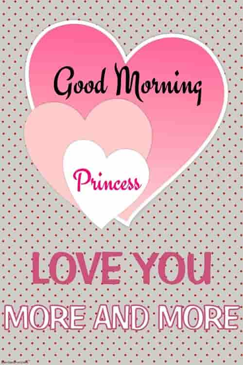 good morning princess love you more and more