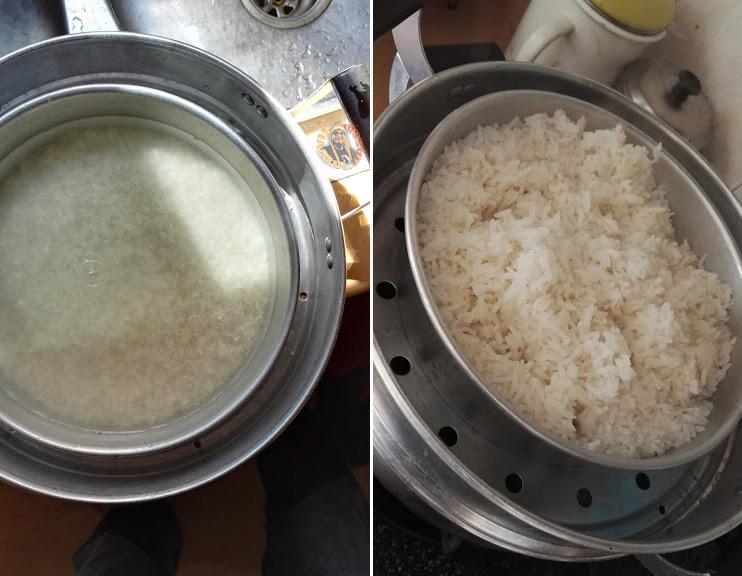 Masak Nasi Guna Pengukus