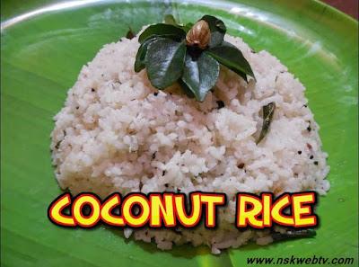 Coconut Rice Recipe in few easy simple steps
