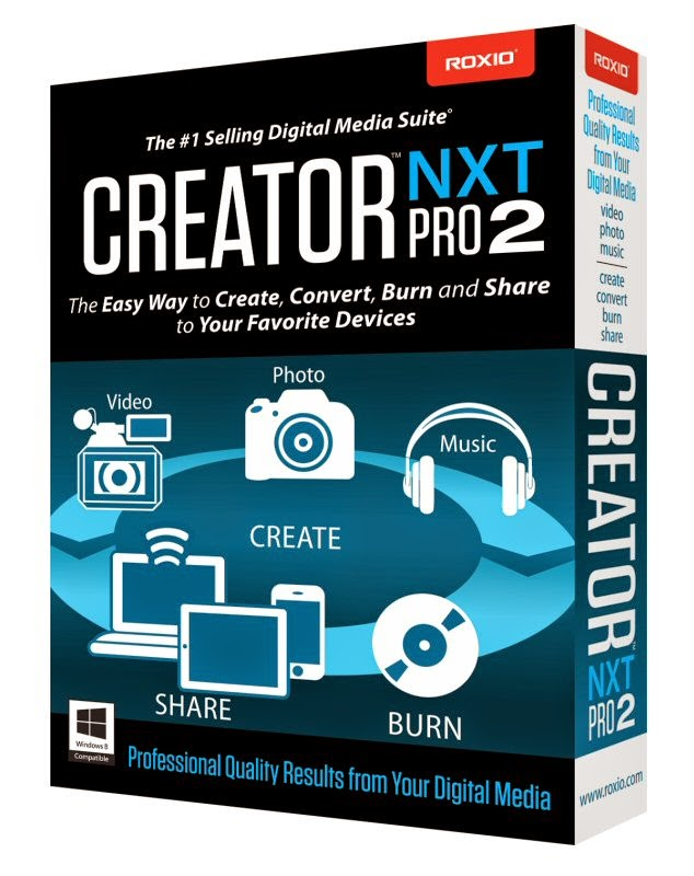Roxio Creator NXT 2 Full Version Free Download - PC GAME SUITE