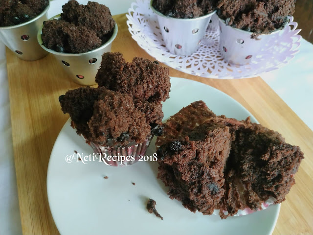 Bolu Kukus Cokelat @NetiRecipes 2018
