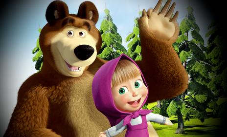 صور مضحكة ماشا و الدب