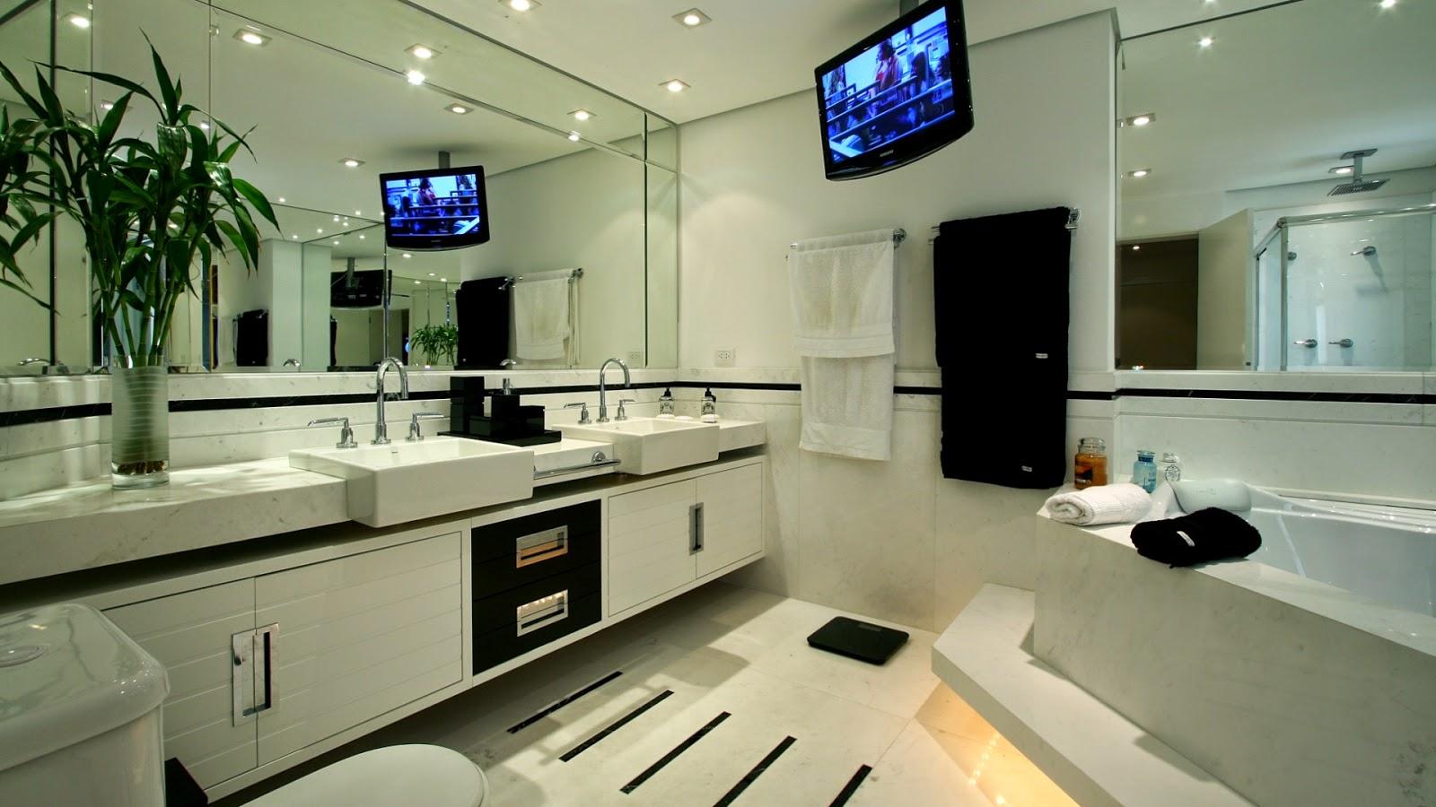 VIDRAÇARIA OLIVIDROS BOX  ESPELHOS  MOLDURAS TEL (021) 25022835  22933 -> Banheiro Decorado Masculino