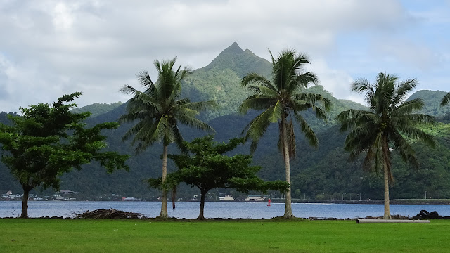 Steep hills in American-Samoa