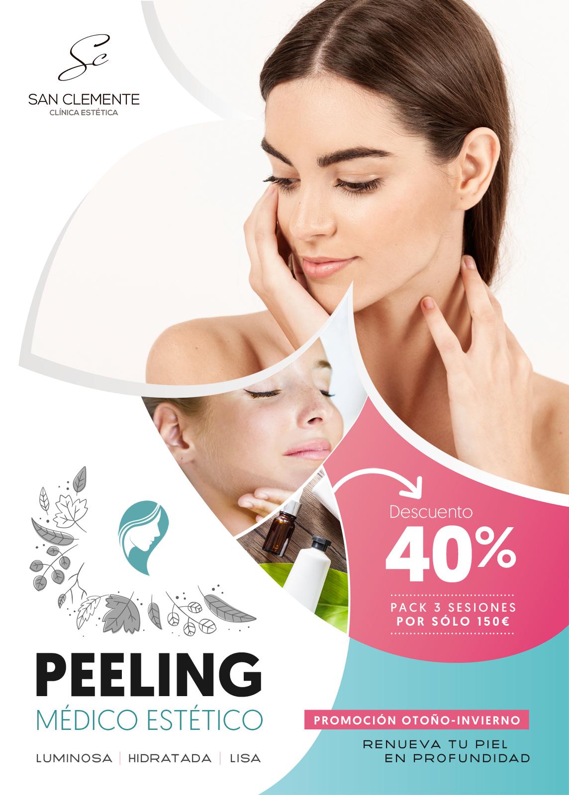 Promoción peeling clínica estética de Zaragoza
