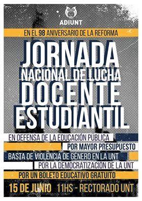 Adiunt-CTA Autónoma se  convoca en defensa de la educación pública, por mayor presupuesto Universitario