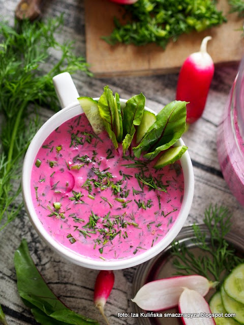 najlepszy chłodnik z botwiny , chłodnik botwinkowy , chołodziec , botwinka , botwina , zupa na zimno , wiosna , nowalijki , kuchnia polska