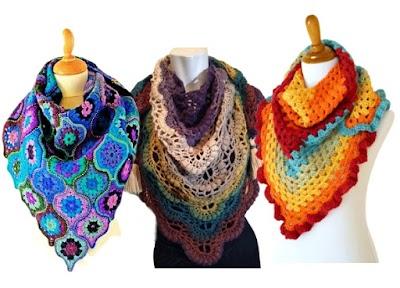 3 Pashminas a crochet interesantes para aprender a tejer