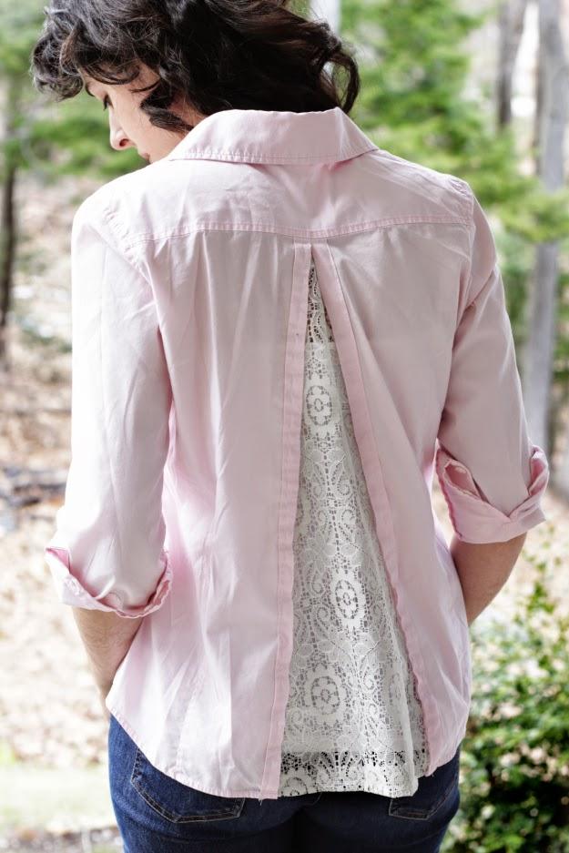 Camisa encaje en la espalda