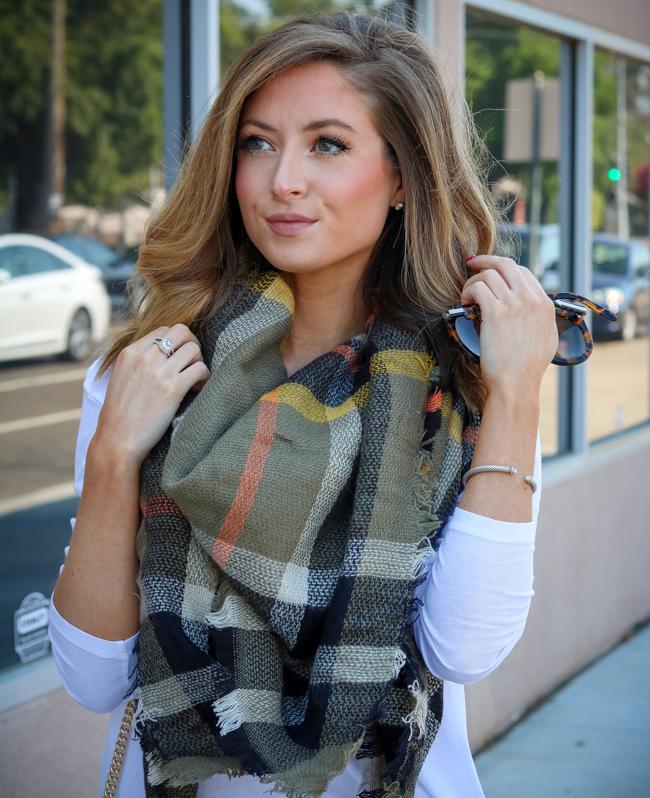 ilymix plaid blanket scarf